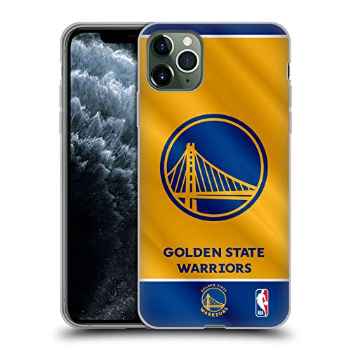 Head Case Designs Licenciado Oficialmente NBA Estandarte 2019/20 Golden State Warriors Carcasa de Gel de Silicona Compatible con Apple iPhone 11 Pro MAX