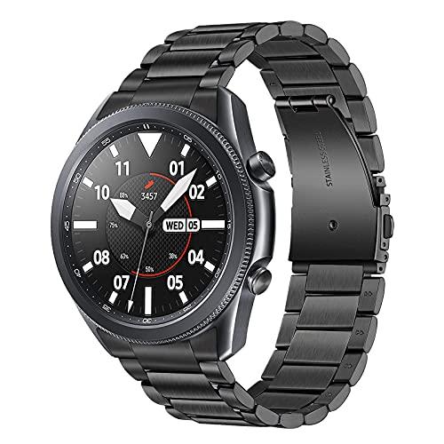 TRUMiRR Kein Gap Uhrenarmband Kompatibel mit Galaxy Watch 3 45mm Armband Solides Clip Edelstahl Metall Uhrenarmband Hand Abnehmen Armband Ersatzband fur Samsung Galaxy Watch3 45mm