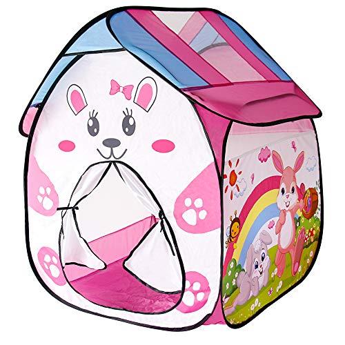 Tienda Campaña Infantil - Tiendas Carpas de Jardin Casita Infantil Castillo Princesas Pop Up Carpa Plegable para Interior y Exterior Regalo para Niños , Rosado