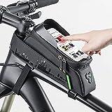 Bolsa para bicicleta, Bolsa para cuadro frontal Bike Pe, Bolsa impermeable para ciclismo con pantalla táctil, Bolsa para guardar bicicletas, para bicicleta de carretera, bicicleta de montaña, biciclet