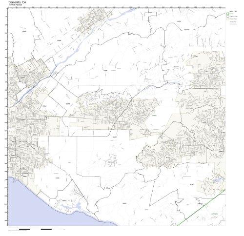 Working Maps Camarillo, CA Zip Code Map Laminated