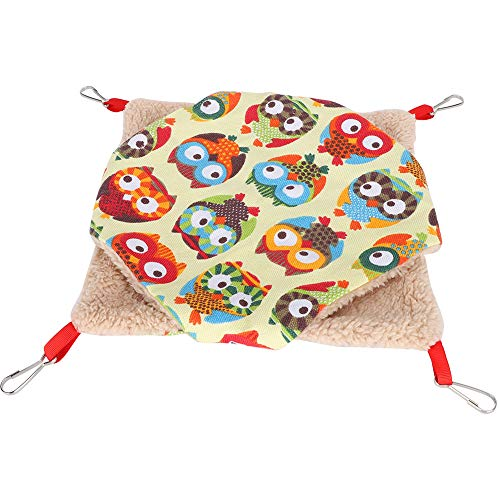 Annjom Swinging Toy Pet Hammocks Bed, Pet Hanging Hammocks Bed, Soft for Small Animal(large, Color owl)
