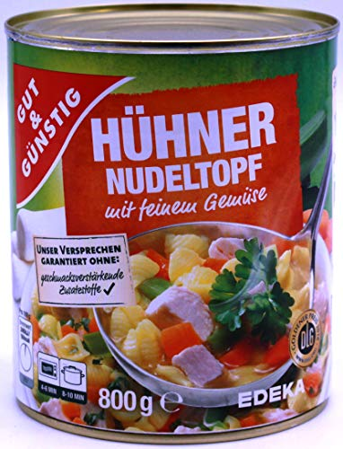 Gut & Günstig Hühner Nudeltopf mit feinem Gemüse, 6er Pack ( 6 x 800g)