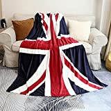 Sviuse British Flag Blanket, Super Soft Sherpa Twin Throw 60 80 Blanket for Bed Couch Chair Fall Winter Camping Living Room Office Gift