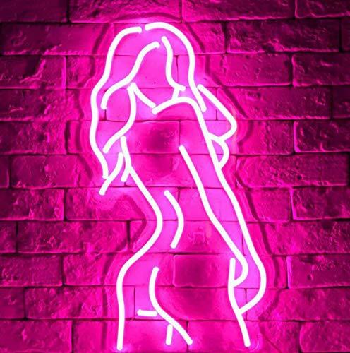 Neon LED Back Panel Lange Haare Dame, USB Neon, Benutzt Für Partybedarf, Mädchen Raumdekoration, Sommerpartys, Kinder