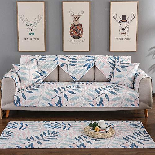 nohbi Waschbar Sofa Überwürfe,Vier Jahreszeiten Universal Wohnzimmer Sofakissen,Baumwolle rutschfeste Sofabezug-C_70×90cm,Sofabezug Weich Stoff