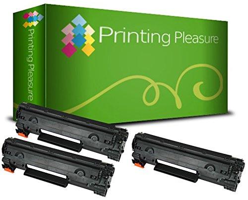 Printing Pleasure Compatible CB436A 36A Cartucho de tóner para HP Laserjet P1505 P1505N P1506 M1120MFP M1120N M1520 M1522MFP M1522N M1522NF - Negro, Alta Capacidad