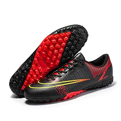 Botas De Fútbol Zapatos, Zapatos De Tacos Al Aire Libre Unisex, Zapatillas De Atletismo Profesionales Para Niños, Adolescentes, Niños, Niñas Y Adultos, Hombres, Mujeres (42 (EU 41 2/3),Black)