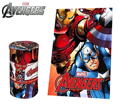 MEDIA WAVE store MV92339 Coperta in Morbido e Caldo Pile The Avengers 100 x 150 cm Plaid
