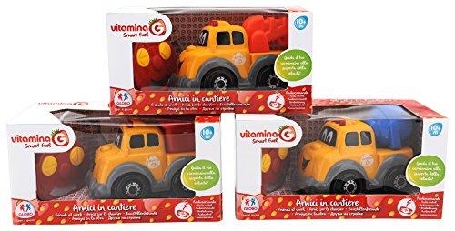 Globo Toys 5077 Vitamina _ G 3 Assortis Radio Controlled Toutes Fonctions Véhicules de Chantier Jouet