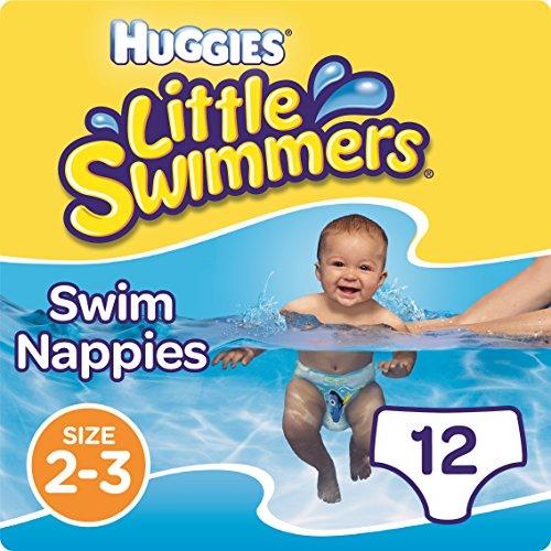 Huggies Little Swimmers Einweg-Schwimmwindeln, Größe 2–3, insgesamt 12 Windeln