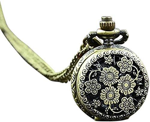 CCXXYANG Co.,ltd Necklace Pocket Watch Retro Vintage Steampunk Quartz Necklace Carving Pendant Chain Clock Pocket Watch Men S and Women S Necklace Watches