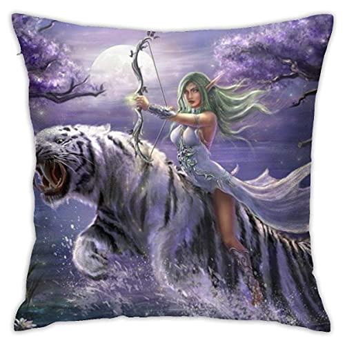 KINGAM World Of Warcraft Orc Warrior - Fundas de almohada de 45,7 x 45,7 cm, funda de almohada moderna, funda de cojín cuadrada, decoración