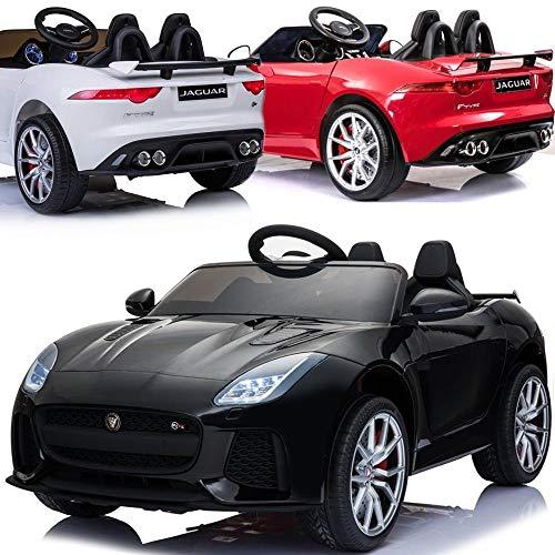 Jaguar F-Type Elektrisches Kinderauto Kinder Elektroauto LIZENSIERT mit 12V Akku 2 Motoren Fernsteuerung Licht Musik Federung