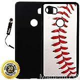 Custom Google Pixel 2XL Case (Baseball Design) Plastic Black Cover Ultra Slim | Lightweight | Includes Stylus Pen by Innosub