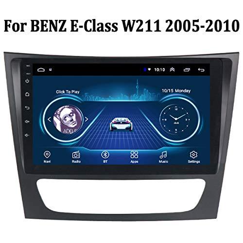 MonLG Auto GPS, 9-Zoll-Android 9-Autoradio-Multimedia-Player, integrierte Offline-Karte für Mercedes Benz E-Klasse W211 2005-2010, Unterstützung des originalen Lenkradknopfs,4g+WiFi 1g+32g