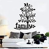 yaonuli Etiqueta de la Pared de la Familia Palabra Árbol genealógico Árbol Etiqueta de Vinilo Dormitorio Sala de Estar Decoración de la casa 42X51cm