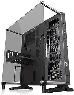 CA-1E7-00M9WN-00 Core P5 Tempered Glass Titanium Edition ATX Vertical GPU Modular Gaming Open Frame Computer Case, Black