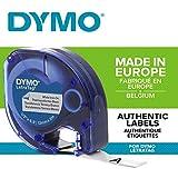 Dymo LetraTag etichette per stoffe e tessuti Stirabile, rotolo da 12 mm x 2 m, stampa nera...