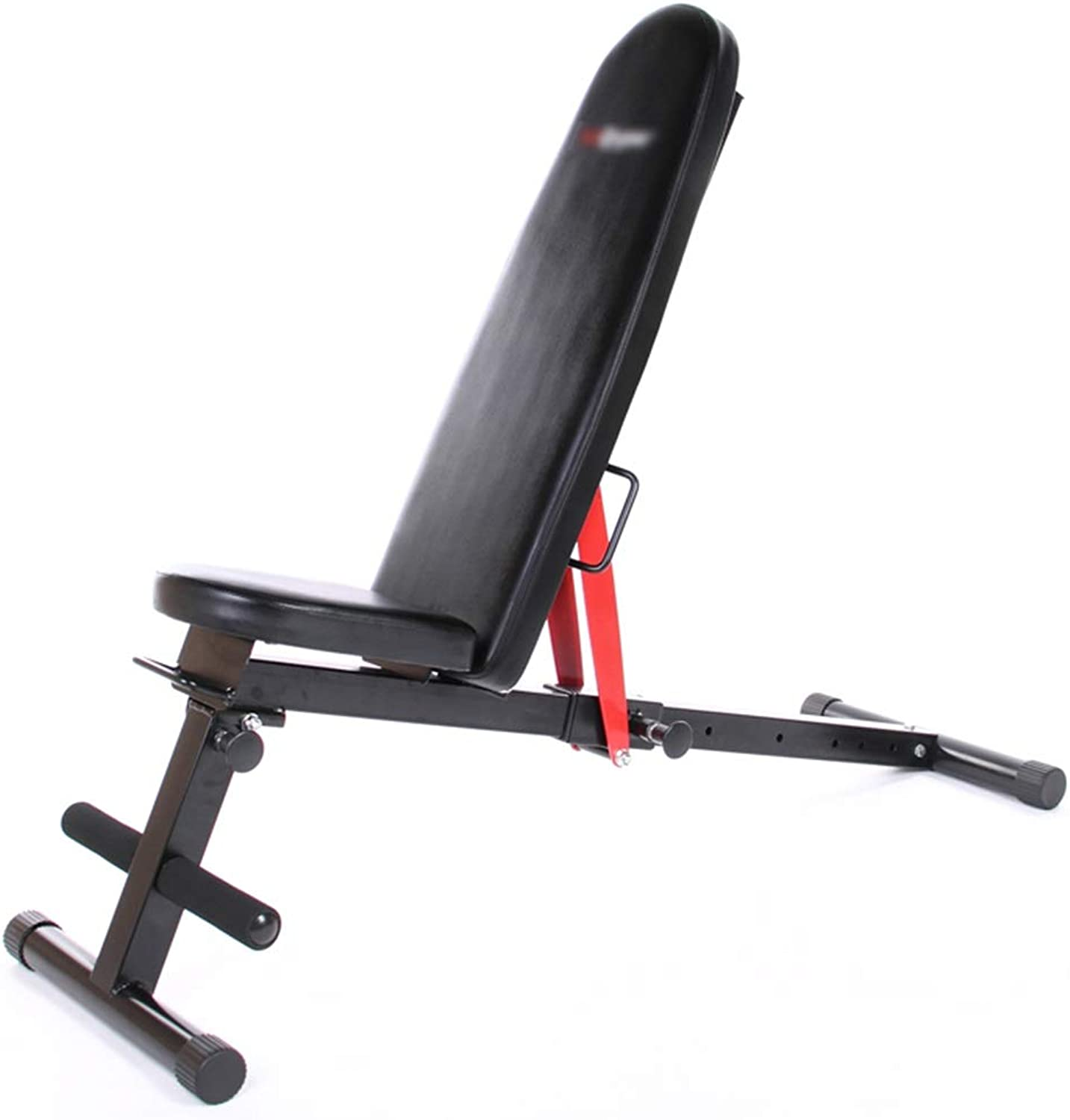 Adjustable Benches Situp Board Dumbbell Bench Situps Adjustable Bench Multifunctional Fitness Folding Abdominal Board Household Bench Press Weight (color   Black, Size   126  46  44cm)