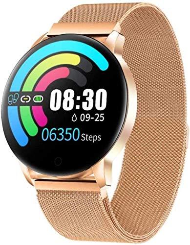 JSL Reloj inteligente para hombres y mujeres, rastreador de actividad física con 1 22 pantalla táctil a color IP67, resistente al agua, podómetro, monitor de ritmo cardíaco