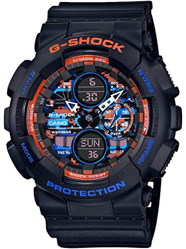 Reloj Casio G-Shock City Camouflage Negro Naranja Azul GA-140CT-1AER
