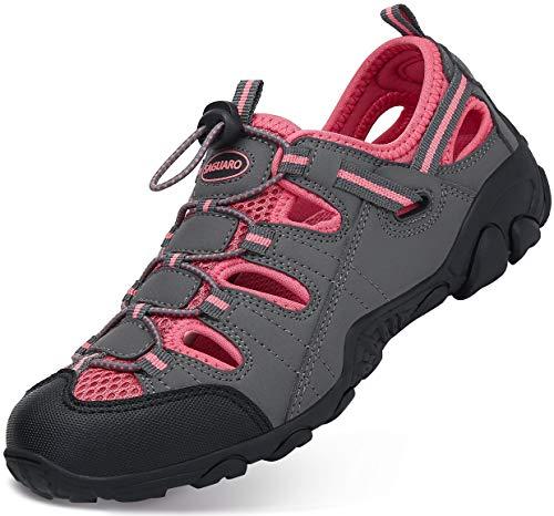Sandali Estivi Donna Esterni PelleTraspirante Casual Sneakers Sandali Sportivi Scarpe da Trekking Passeggiata Fisherman Antiscivolo