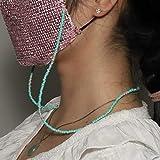 TseenYi - Catena multifunzione con perline verdi per maschera e maschera, accessorio per perline, catena per occhiali da donna e ragazza