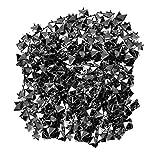 WedDecor 50pcs Schwarz Metall Pyramide Nieten mit Hand Werkzeug für Dekoration Bekleidung, Punk Gothic Mode Zubehör, Verzierung DIY Projekte, 12mm - Aus Rotguss, 8mm
