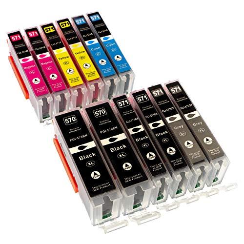ESMOnline 12 komp. XL Druckerpatronen als Ersatz für Canon Pixma MG7750 Pixma MG7751 Pixma MG7752 Pixma MG7753 Pixma TS8050 Pixma TS8051 Pixma TS8052 Pixma TS8053 Pixma TS9050 Pixma TS9055