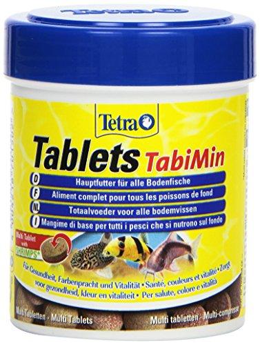 Tetra Tablets TabiMin (Futtertabletten für am Boden gründelnde Zierfische, Hauptfutter für alle bodenfressenden und scheuen Fische), 275 Tabletten Dose
