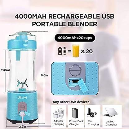 Olivivi-Tragbarer-Entsafter-Mini-Standmixer-Elektrische-Saftpresse-Persnlicher-Blender-Wiederaufladbarer-Mixer-mit-USB-380ml-6-Edelstahl-Klingen-fr-Smoothies-Saft-Milkshake-Maske-blau