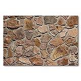Póster de pared de piedra sin costuras con marco para cocina, dormitorio, decoración del hogar, 60 x 80 cm