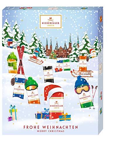 Niederegger Adventskalender Winter-Klassiker, modernes Design, gefüllt mit Niederegger Marzipan, 1er Pack (1 x 300 g)