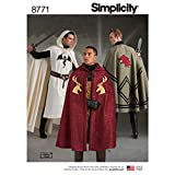 Simplicity 8771 Unisex Cape and Tabard Cosplay and Ren Faire Costume Sewing Pattern, 5 Pieces, One Size