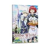FDSHF Anime-Poster, Schneewittchen mit roten Haaren,