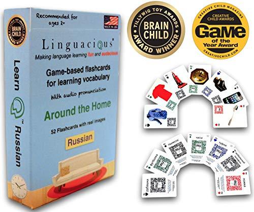 Linguacious Award-Winning Around The Home Russian Flashcard Game - with Audio!