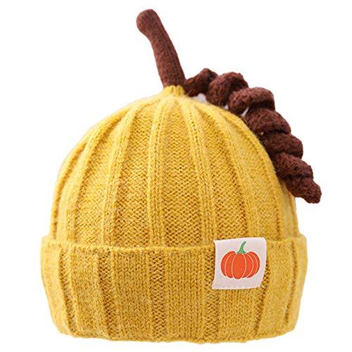 Yao 1 gorro de punto para bebé con patrón de calabaza de invierno para ganchillo (amarillo B)