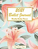 2021 Bullet Journal Monthly Weekly Planner Fully Colored Pages: 2021 Floral Dated Calendar and Organizer Agenda Schedule Organiser Productivity Tracker Log / Christmas Gift Idea For Women Men
