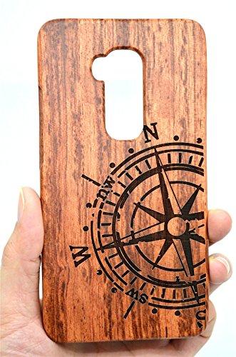 RoseFlower Huawei Honor 5X Legno Custodia - qualit à Premium Cover in bambù/Legno Naturale con Gratis Paraschiena Schermo per Il TuoSmartphone