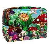 Estuche Multifuncional con Cremallera Jardín de Animales Impermeable Bolsa de Cosméticos Bolsa de Papelería Bolsa de Viaje 18.5x7.5x13cm