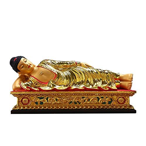 xinxinchaoshi Riqueza Suerte Estatua Resina Reclinable Buda Lifelike Buda Estatuas Proteger Casa Paz Riqueza Decoracin Feng Shui Decor hogar u Oficina decoracin del hogar