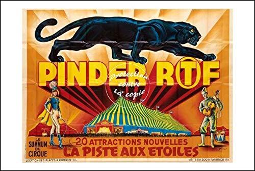 Herbé ™ Poster 40x60cm* d'affiche Vintage/Ancienne Cirque PINDER Piste aux Etoiles 2