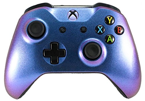 Xbox One S / X Modded Rapid Fire Controller - Includes Largest Variety of Modes -Jump Shot, Drop Shot, Quick Aim, Auto Aim, Quick Scope - Master Mod - Color Changing Purple / Blue (Chameleon)