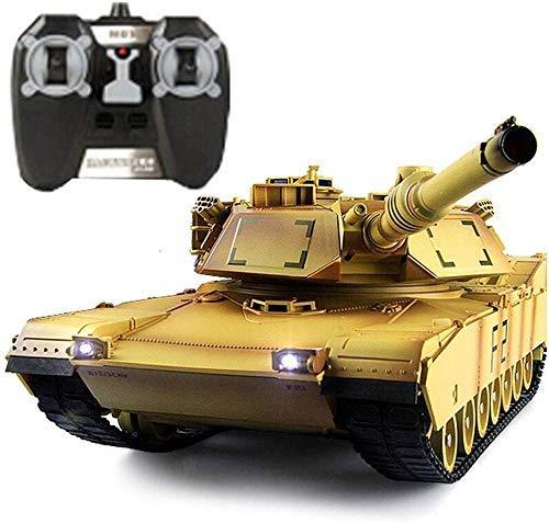 Los carros de combate de la torreta de control de rotación alta de la simulación del modelo del tanque de batalla juguetes for niños 1:24 RC tanque blindado de control remoto del tanque grande de carg