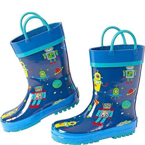 Stephen Joseph Kids Rain Boot (7 (US Toddler's) - Robot)