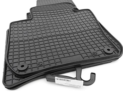 Alfombrillas de goma Skoda Superb II 2008Original Qualitaet pie de goma alfombras 4piezas Negro, Nuevo