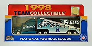 Philadelphia Eagles 1998 NFL 1/87 Diecast Tractor Trailer Ford Aeromax Truck Collectible Limited Edition Football Team Car By White Rose Matchbox