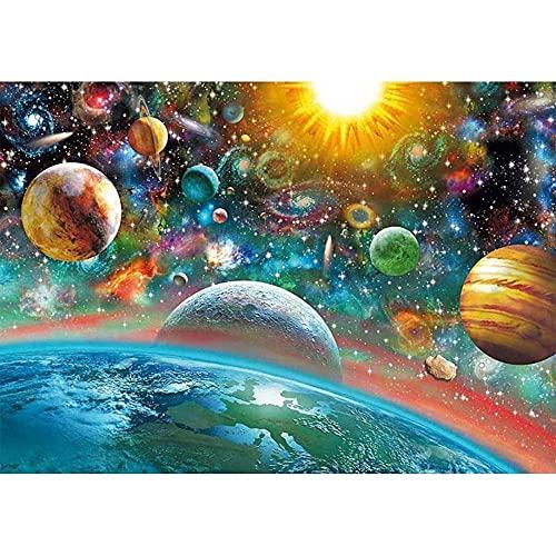 LVLUOKJ 5D Diamond Painting DIY Set mit Farbiger Sternenhimmel Full Drill Stickerei Groß Bilder Diamonds Malerei für Erwachsene Kinder (Size : 40 * 30cm)