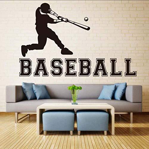 70X44 Cm Baseball Sport Wandtattoos Abnehmbare Vinyl S Wasserdichte Tapete Jungen Zimmer Wandkunst Aufkleber Home Decoration Zubehör